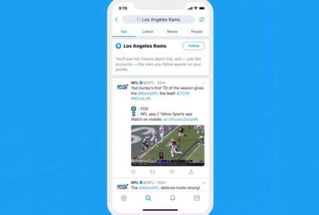 Twitter users can now follow not only accounts, but also topics