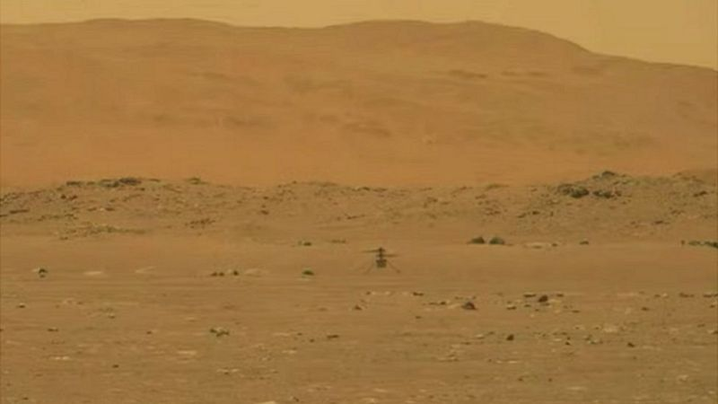 Successful flight of NASA's 'Enginity' helicopter to Mars, 'Moment of Wright Brothers'