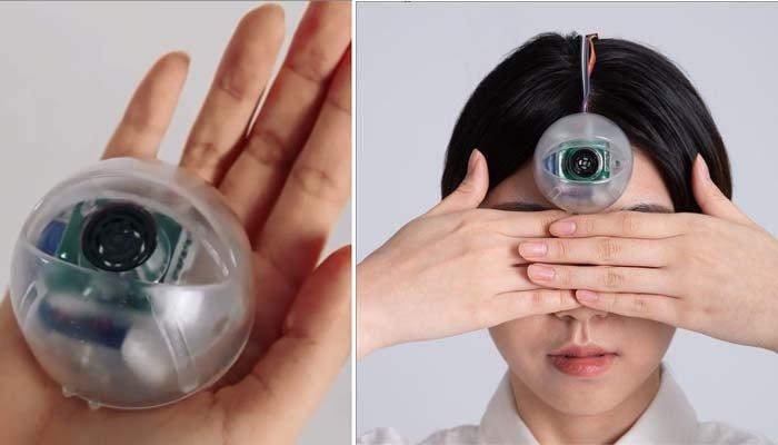 Prepared forehead artificial eye